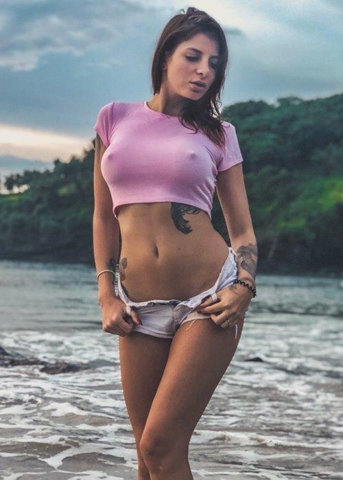 Стриптизерша Светлана на пляже